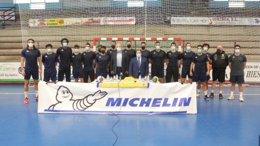 Michelin y el Balonmano Villa Aranda renuevan su compromiso por dos temporadas